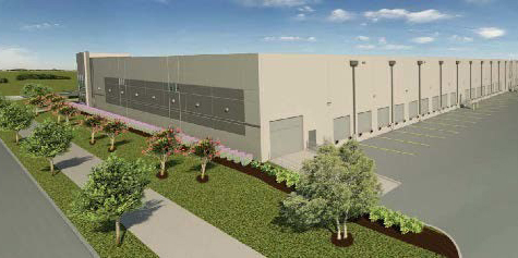Rear View Rendering of New Paradigm Metals Facility