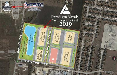 Arial View of Paradigm Metals location at Innovation Business Park