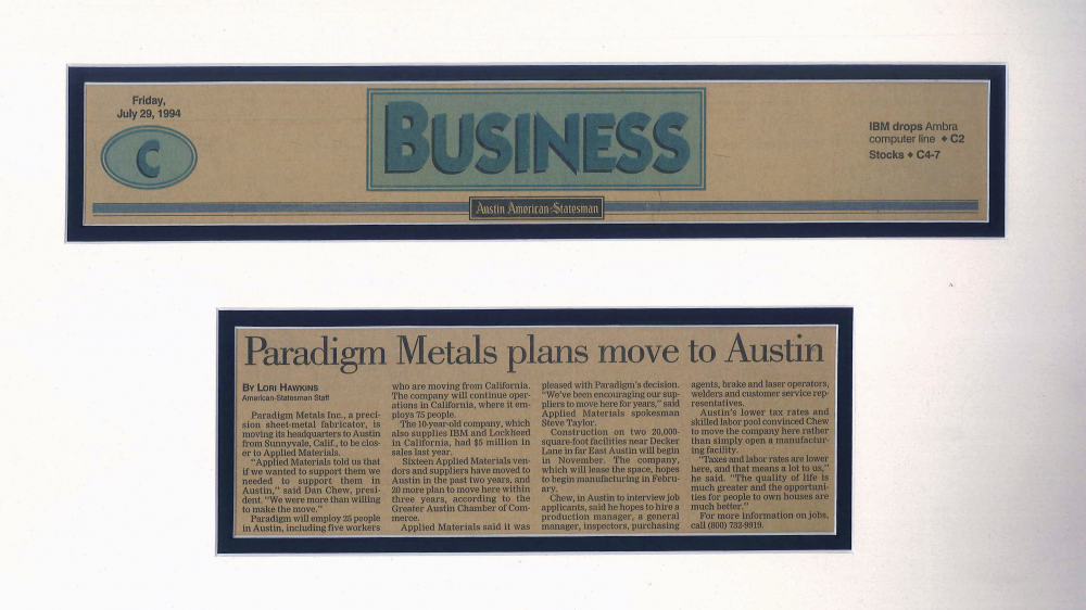 Paradigm Metals plans move to Austin